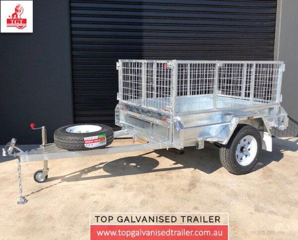6x4 single axle-Top Galvanised Trailer-box-trailer