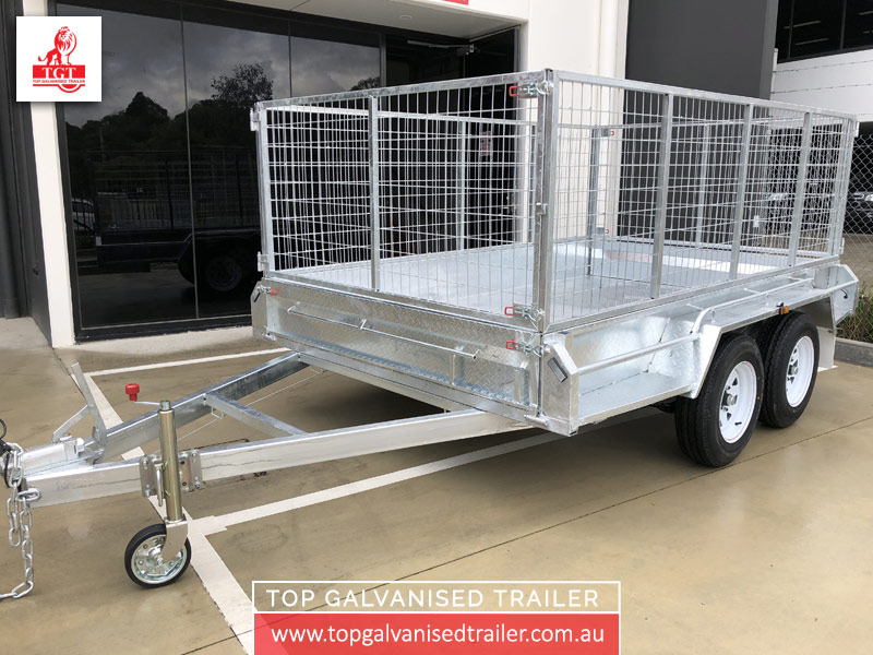 10x6 Cage Trailer Top Galvanised Trailer