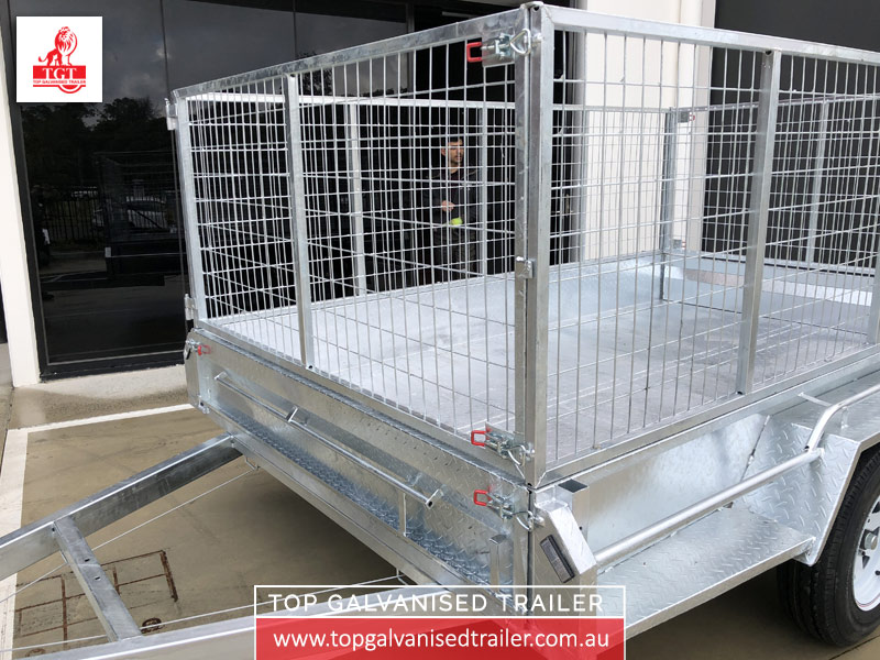 10x6 Cage Trailer Top Galvanised Trailer3