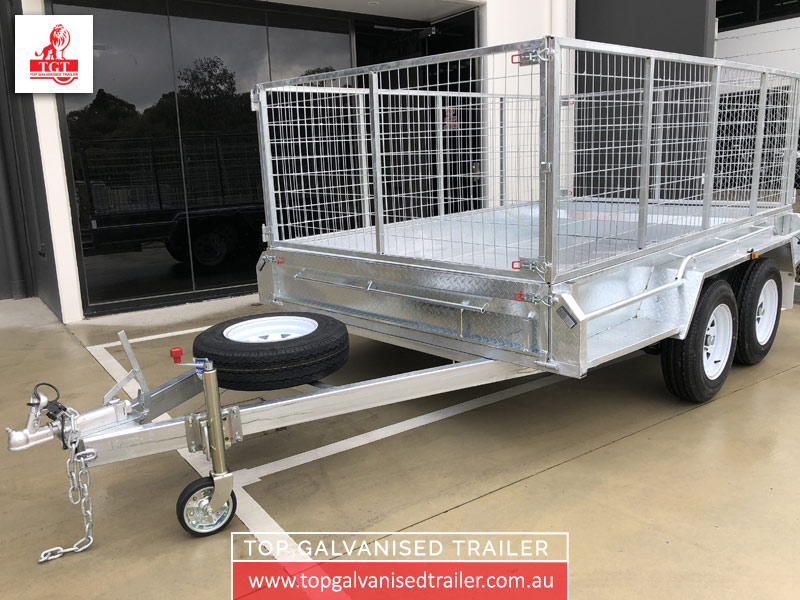 10x6 Cage Trailer Top Galvanised Trailer5