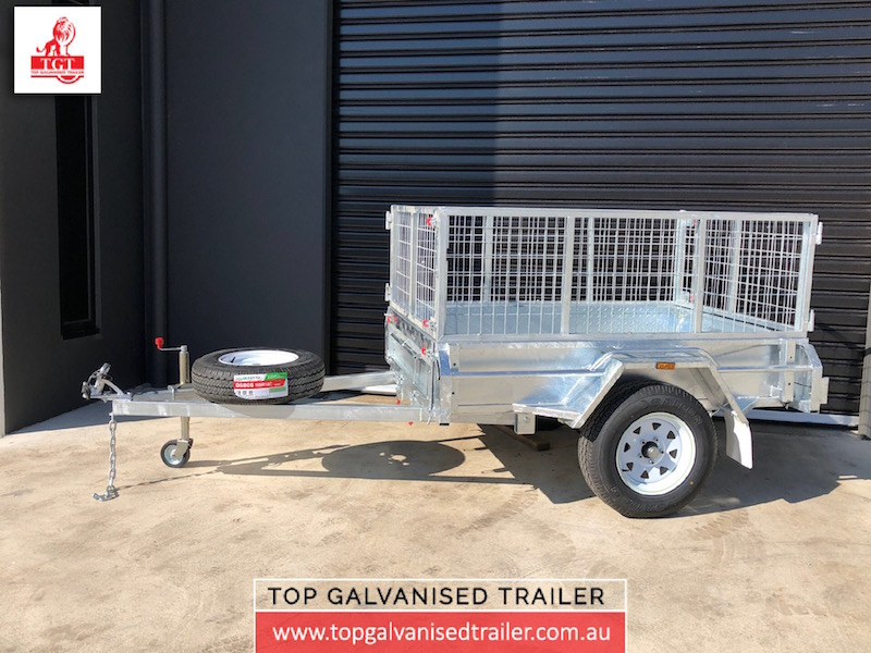 6x4 single axle-Top Galvanised Trailer- cage- trailer