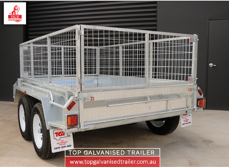 8x5 tandem box trailer