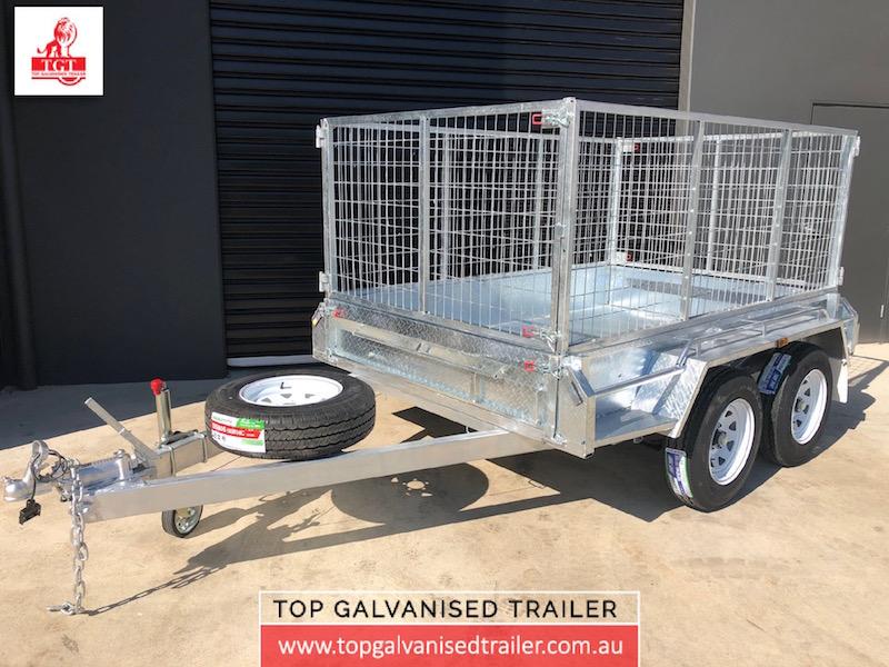 8x5 tandem top galvanised trailer