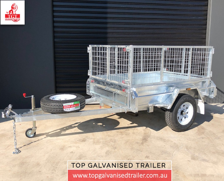 6x4 single axle-Top Galvanised Trailer-box-trailer
