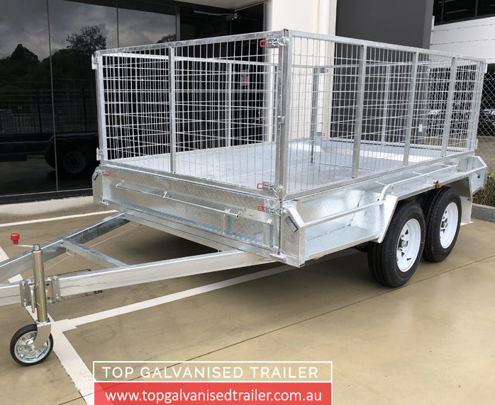 12x6 Cage Trailer Top Galvanised Trailer