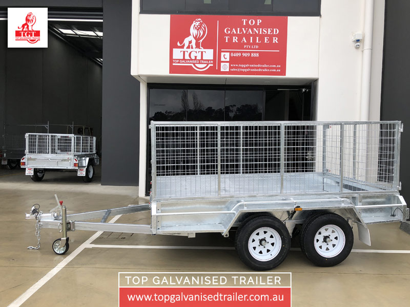 10x6 Cage Trailer Top Galvanised Trailer2