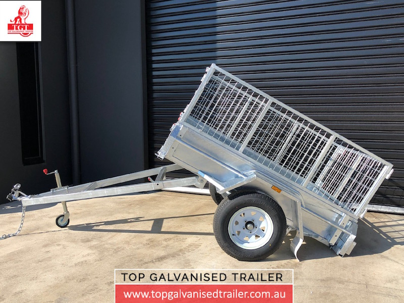 6x4 single axle-Top Galvanised Trailer
