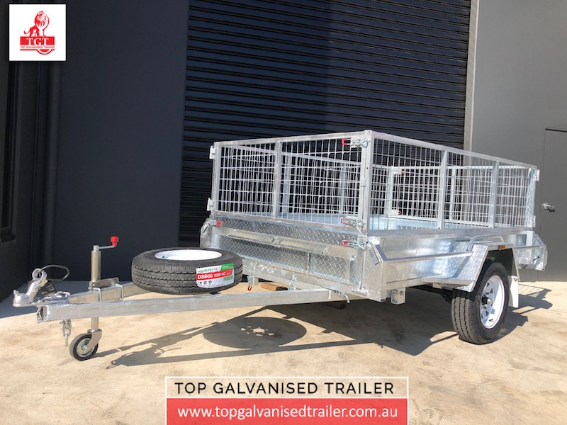 Top Galvanised Trailer 8x5 single