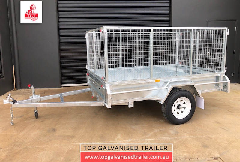 8x5 Single Axle 900mm cage