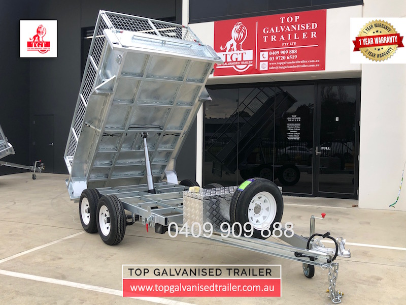 Top Galvanised Trailer tipper trailer
